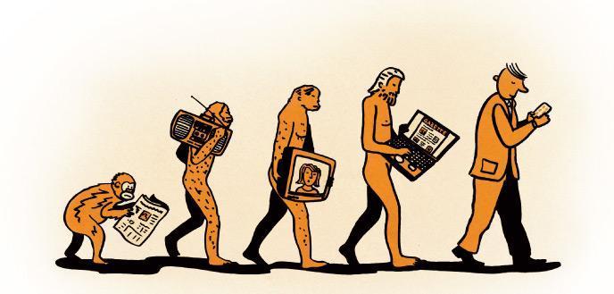 evolucion de los medios