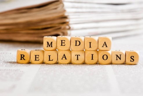 Letter Dices Concept: Media Relations